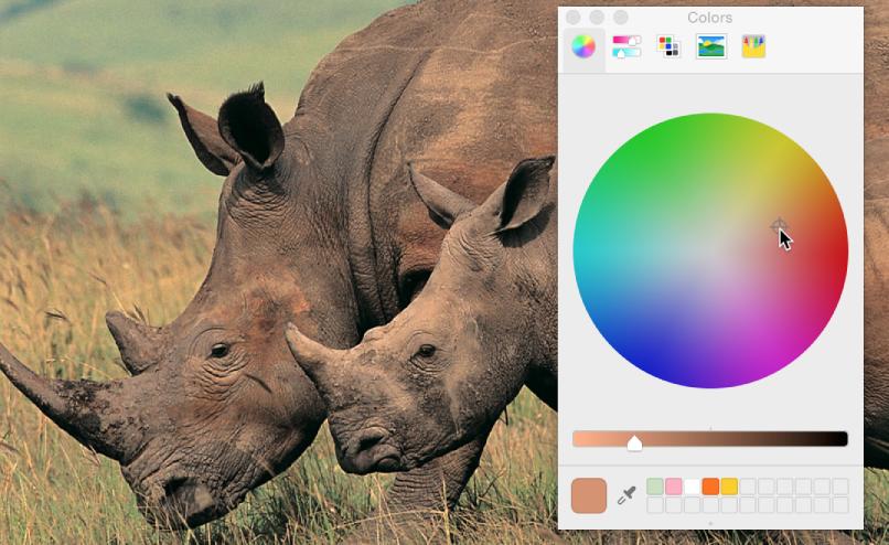 """Verwendung des Fensters """"Farben"""" zur Anpassung der Farbbalance eines Bilds"""