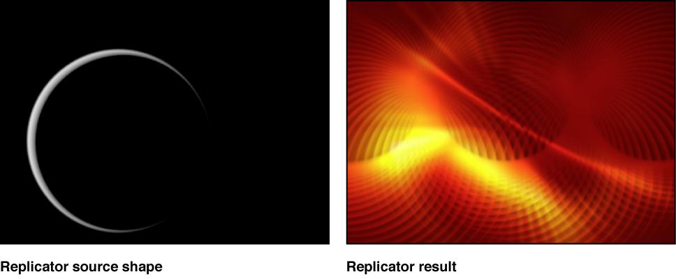 Canvas mit Beispielen für Replikatoren.