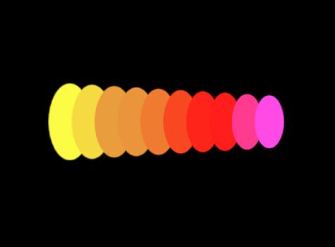 """Abbildung. Bereich """"Replikator"""" des Informationsfensters, in dem für """"Farbmodus"""" die Option """"Über das Muster"""" eingestellt ist."""