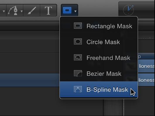 Werkzeug für B-Spline-Maske in der Symbolleiste.