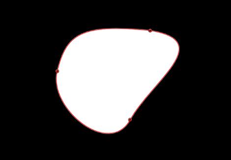 Canvas mit einer geschlossenen Form.