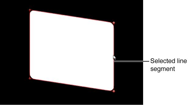Canvas mit einem Liniensegment, das angepasst wird.
