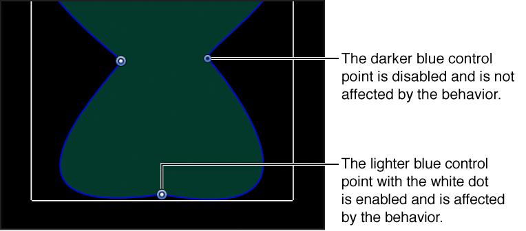 """Canvas-Fenster mit einer Form, auf die das Verhalten """"Form im Zufallsmodus"""" angewendet wurde."""