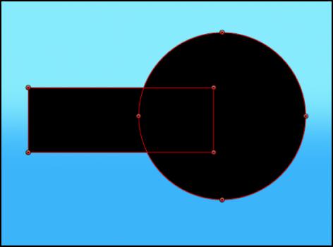 Canvas mit einer Maske, die von einem Alpha-Kanal subtrahiert wird.