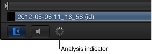 Analyseanzeige im Bereich für Wiedergabesteuerung des Canvas