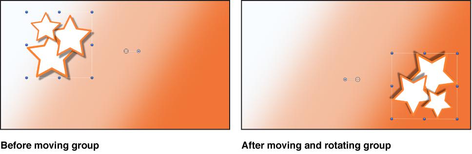 """Fenster """"Canvas"""" mit einer Gruppe, die als einzelnes Objekt bewegt wird"""