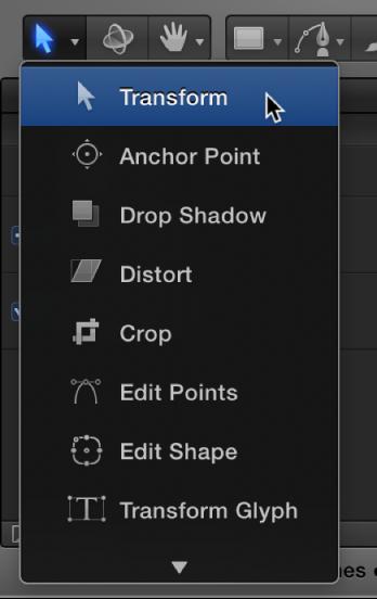 Werkzeug zum Auswählen/Transformieren in der Symbolleiste.