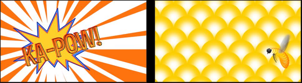 Beispiele für Grafiken, die mit Generatoren erstellt wurden.