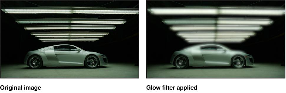 """Canvas mit dem Effekt des Filters """"Glühen"""""""
