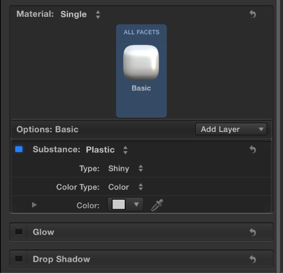 """3D-Textinformationsfenster mit Material """"Standard Weiß""""."""
