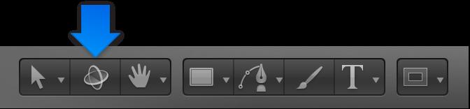 """Werkzeug """"3D-Transformation"""" in der Symbolleiste."""