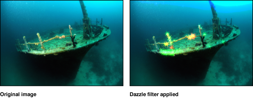 Canvas showing effect of Dazzle filter