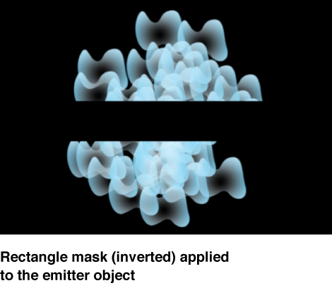 Canvas showing mask applied to emitter layer