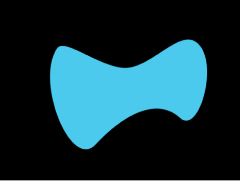 Canvas showing bowtie-shaped object