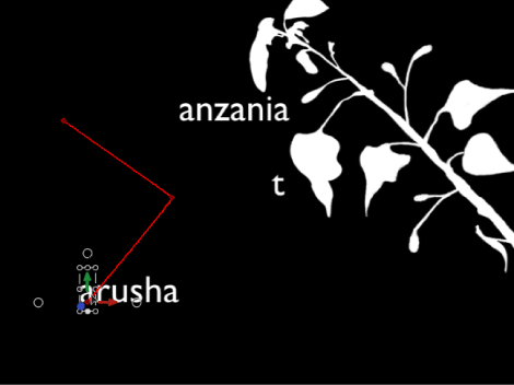 Canvas showing Sequence Text behavior with editable animation path