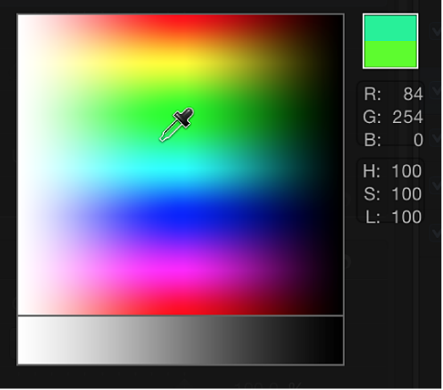 FPop-up color palette