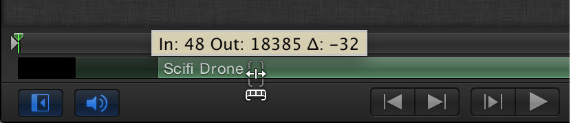 Slipping audio track in Mini-Timeline