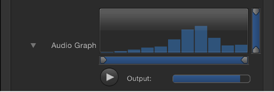 Inspector showing Audio Graph
