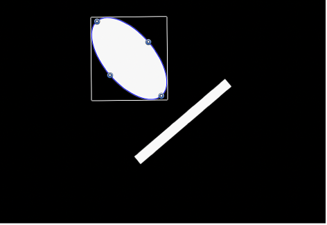 Canvas showing same two objects with Align Tangents checkbox selected