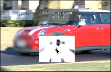 Canvas showing magnified inset that appears when tracker is dragged