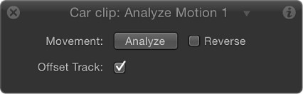 HUD showing Stabilize behavior controls containing Offset Track checkbox