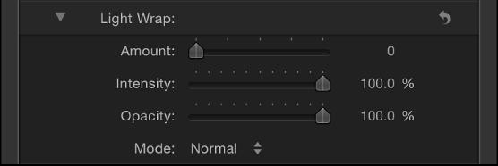 Light Wrap controls in Keyer filter