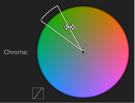 Dragging outer edge of Chroma control to adjust softness