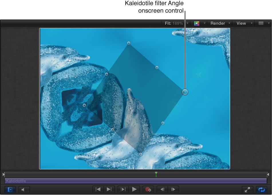 Kaleidotile filter Angle onscreen control