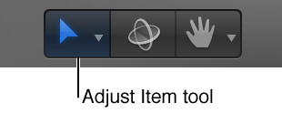 Adjust Item tool in toolbar