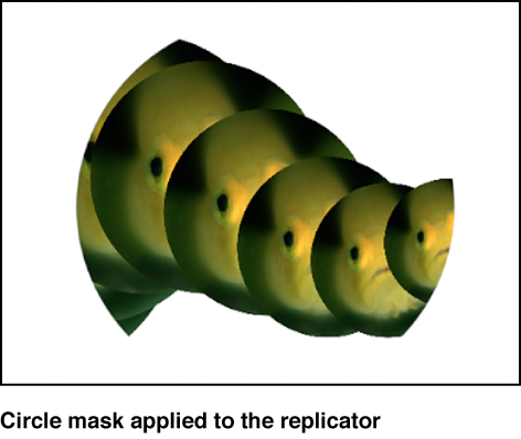 Canvas showing replicator with mask applied