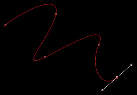 Canvas showing open shape