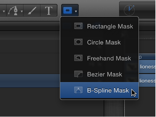 B-Spline Mask tool in toolbar