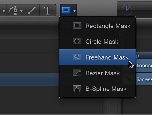 Freehand Mask tool in toolbar