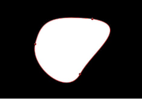 Canvas showing closed shape