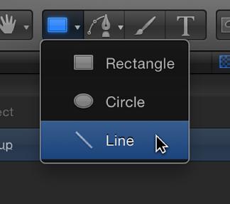 Line tool in toolbar
