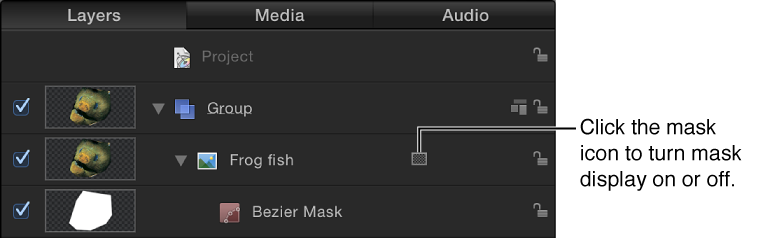 Layers list showing mask icon