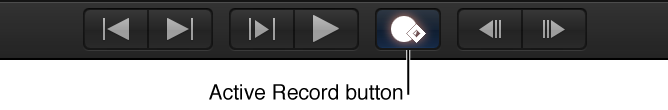 Record button in Canvas transport controls