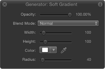 HUD showing Soft Gradient generator parameters