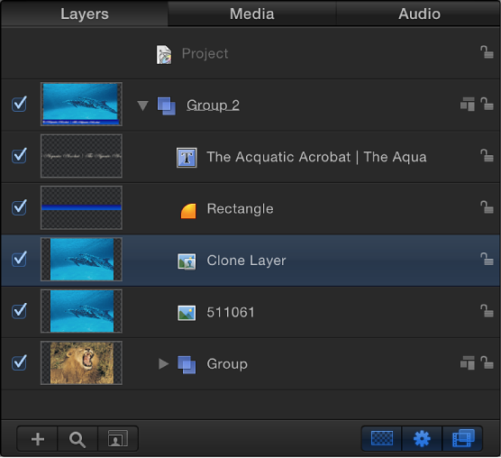 Layers list showing a cloned layer