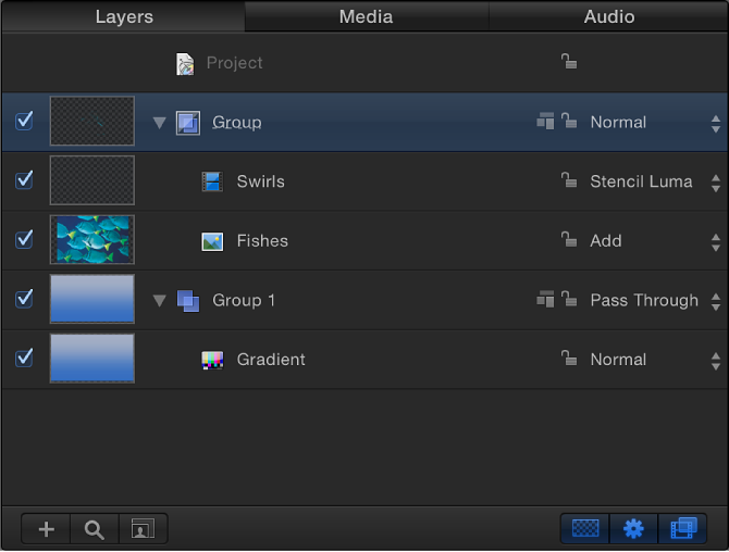 Layers list showing a group set to Normal blend mode