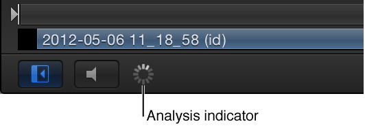Canvas showing the optical flow analysis indicator
