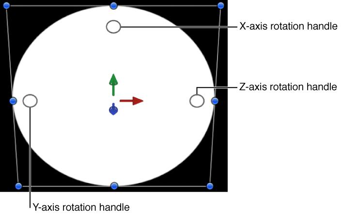 Onscreen 3D rotation controls