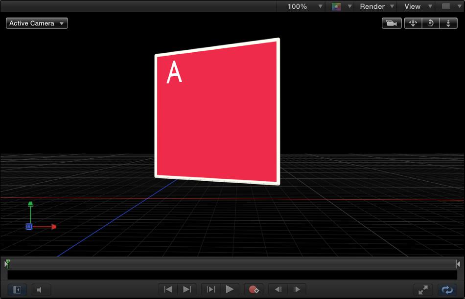 Canvas showing 3D grid