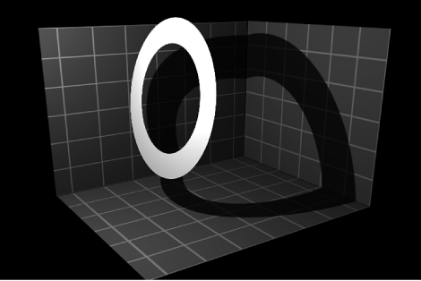 Canvas showing object casting shadow