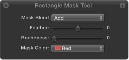 Rectangle Mask Tool HUD