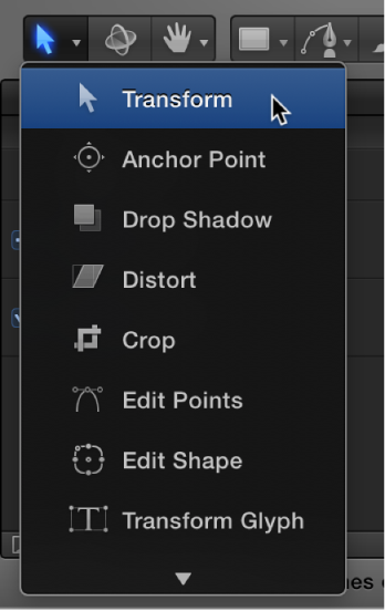 Select/Transform tool in the toolbar