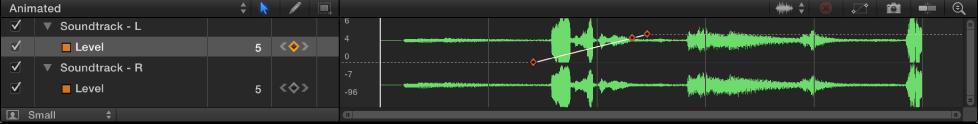 Audio waveform in the Keyframe Editor