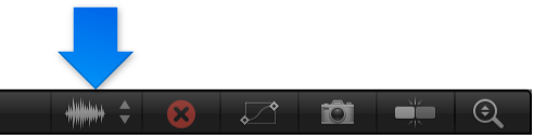Choose waveform button in the Keyframe Editor