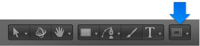 Mask tool set in toolbar