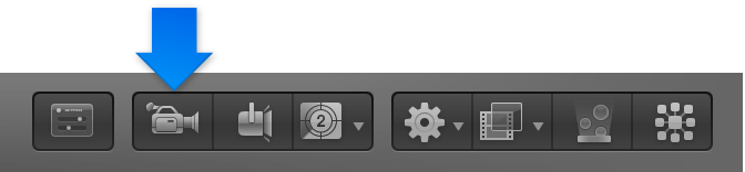 New Camera button in the toolbar